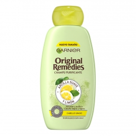 Champú purificante con arcilla suave y limón Original Remedies 300 ml.
