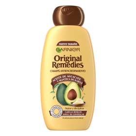 Champú antiencrespamiento con aceite de aguacate Original Remedies 300 ml.