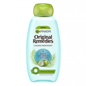 Champú hidratante de agua de coco y aloe vera Original Remedies 300 ml.