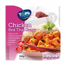 Chicken red thai curry