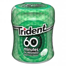 Chicles sabor hierbabuena 60 minutos Trident 72 g.