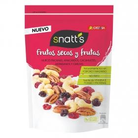 Frutos secos y frutas (Nueces pecana, anacardos, cacahuetes, arándanos y cerezas)