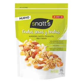Cocktail de frutos secos y frutas Grefusa-Snatt's 120 g.