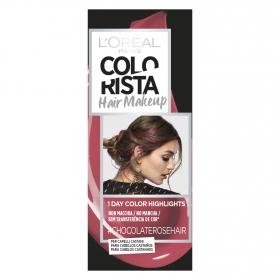 Hair Makeup Colorista 1 dia de reflejos para cabellos castaños #Chocolaterosehair