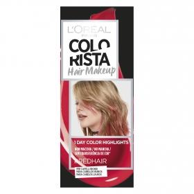 Hair Makeup Colorista 1 dia de reflejos para cabellos rubios #Redhair