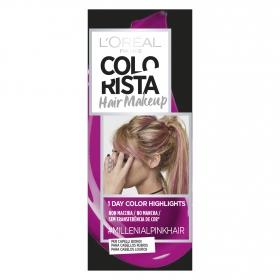 Hair Makeup Colorista 1 dia de reflejos para cabellos rubios #Millenialpinkhair