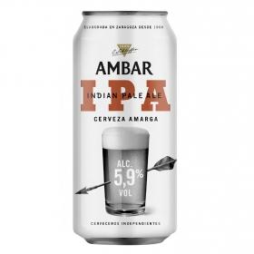 Cerveza artesana Ambar IPA amarga lata 44 cl.