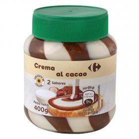 Crema para untar al cacao con avellanas 2 sabores