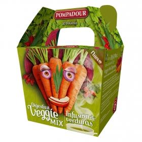Infusión de verduras en bolsitas Digestiva Veggie Mix Pompadour 10 ud.