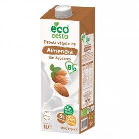Bebida vegetal ecológica de almendra, sin azucar añadido, sin gluten