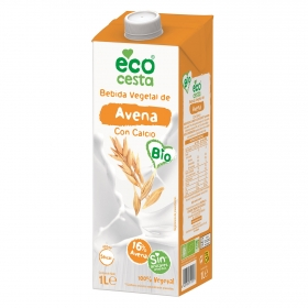 Bebida de avena con calcio sin azúcares añadidos ecológica Ecocesta brik 1 l.