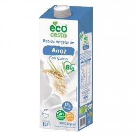 Bebida de arroz ecológica Ecocesta con calcio sin azúcares añadidos sin gluten brik 1 l.