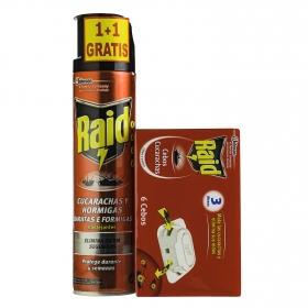 Insecticida cucarachas y hormigas 400 ml. + cebos 6 ud.
