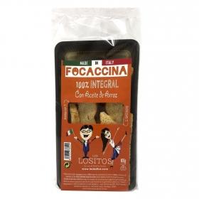 Focaccina integral con aceite de arroz