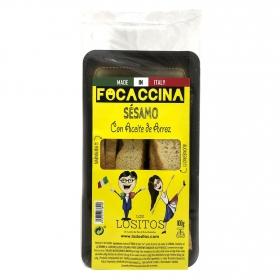 Focaccina sésamo con aceite de arroz