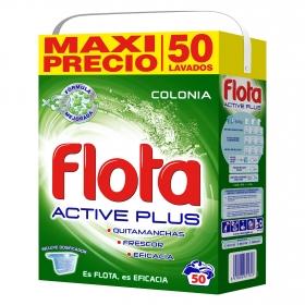 Detergente en polvo Colonia Active plus Flota 50 lav.