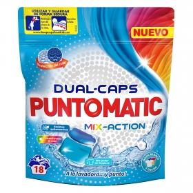 Detergente en cápsulas Mix Action Puntomatic 18 ud.