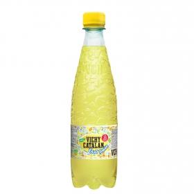 Agua mineral Vichy Catalán natural con gas con zumo de limón botella 50 cl.