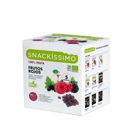 Caramelos sabor frutos rojos ecológicos Snackíssimo 5 paquetes de 18 g.
