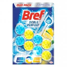 Colgador WC aroma océano y cítrico Bref 2 ud.