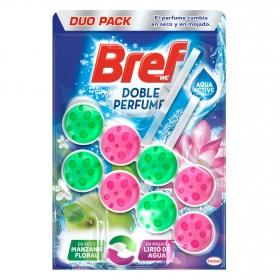 Colgador WC aroma manzan floral y lirio de agua Bref 2 ud.