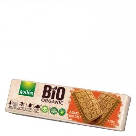 Galletas de cereales con espelta ecológicas Gullón sin lactosa 170 g.