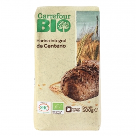 Harina de centeno integral ecológica Carrefour 500 g.