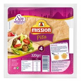 Pan de pita 4 ud. Mission 330 g.