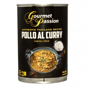 Pollo al curry sin gluten