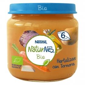 Tarrito de hortalizas con ternera desde 6 meses sin azúcar añadido ecológico Nestlé Naturnes sin gluten 200 g.
