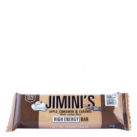 Barrita de chocolate negro con higos y polvo de grillo Jimini's 40 g.