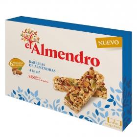 Barritas de almendras a la sal El Almendro sin gluten 105 g.