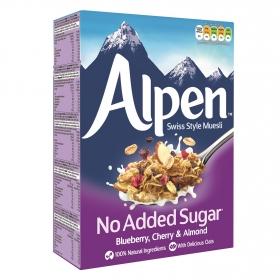 Cereales de muesli con arandanos y almendras sin azúcares añadidos