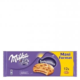 Galletas rellenas de chocolate con pepitas de chocolate Sensation Milka 312 g.