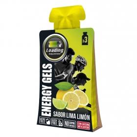 Gel energético lima limón con cafeína sin gluten y sin lactosa