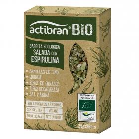 Barritas saladas con espirulina y semillas ecológicas Actibran sin gluten 2 unidades de 25 g.