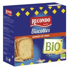 Biscottes germen de trigo ecológicos Recondo 300 g.