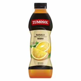 Zumo de naranja Zumosol exprimido con pulpa botella 75 cl.