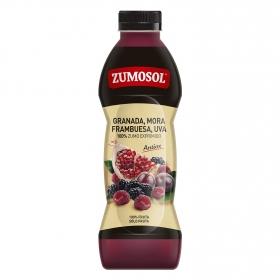 Zumo granada, mora, frambuesa y uva Zumosol Antiox botella 75 cl.