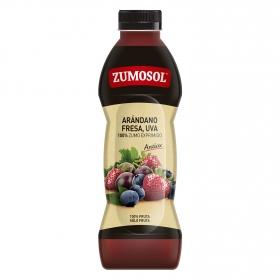 Zumo de arándanos, fresa y uva Zumosol exprimido botella 75 cl.