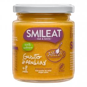 Tarrito de guisitos de alubias ecológico Smileat sin gluten 230 g.