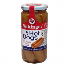 Salchichas Hot Dog tipo bockwurst