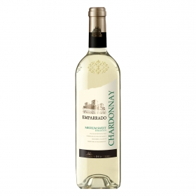 Vino semidulce blanco chardonnay Emparrado 75 cl.