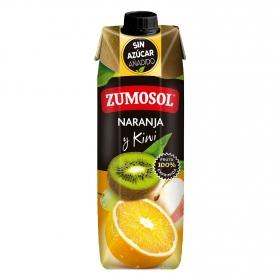 Zumo de naranja y kiwi Zumosol exprimido brik 1 l.