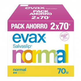Protegeslip normal Evax pack 2x70 ud.