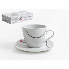 Juego de Café de Porcelana HOME STYLE Zen & Scratch 8pz - Decorado
