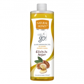 Aceite corporal Elixir de Argan bajo la ducha Natural Honey 300 ml.