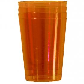 Vasos redondos Plastico  Naranja