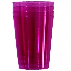 Vasos redondos Plastico  Fucsia