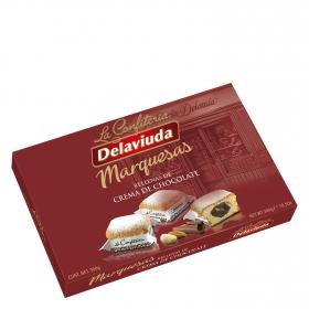Marquesas rellenas de crema de chocolate Delaviuda 300 g.